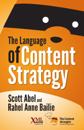 Cover of The Language of Content Strategy, linked to Amazon.com
