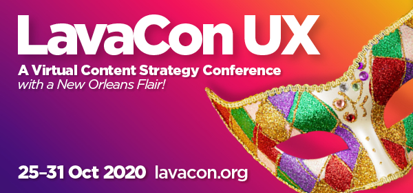 Conference graphic for LavaCon linked to the conference web site