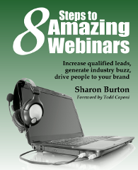Cover of 8 Steps to Amazing Webinars, linked to Amazon.com