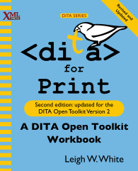 Cover of DITA for Print, linked to larger image