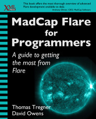 Cover of MadCap Flare for Programmers, linked to Amazon.com